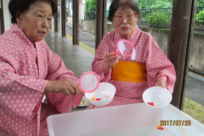 福寿荘で夏まつり1